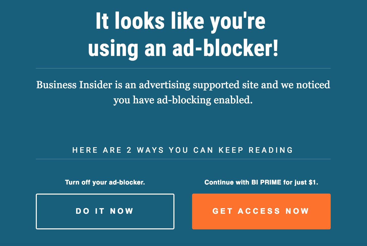Get around Business Insider Adblock paywall – Jay Sharp :: Sharpish