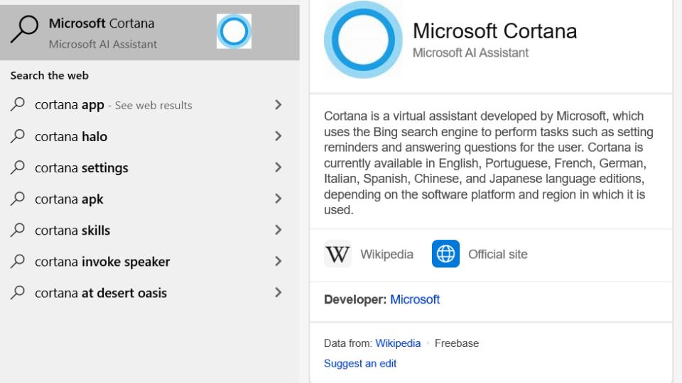 Windows 10 start bar cleanup, uninstall Cortana and remove Bing search November 2020