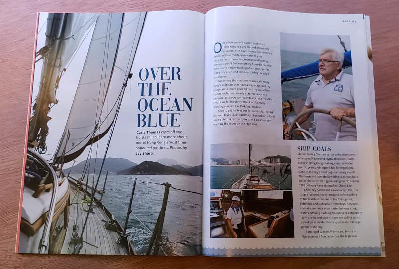 I took some sailing photos for a Magazine